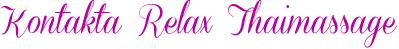 Kontakta Relax Thaimassage